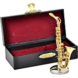 SUNRISE SOUND HOUSE サンライズサウンドハウス ミニチュア楽器 アルトサックス 1/12 ゴールド