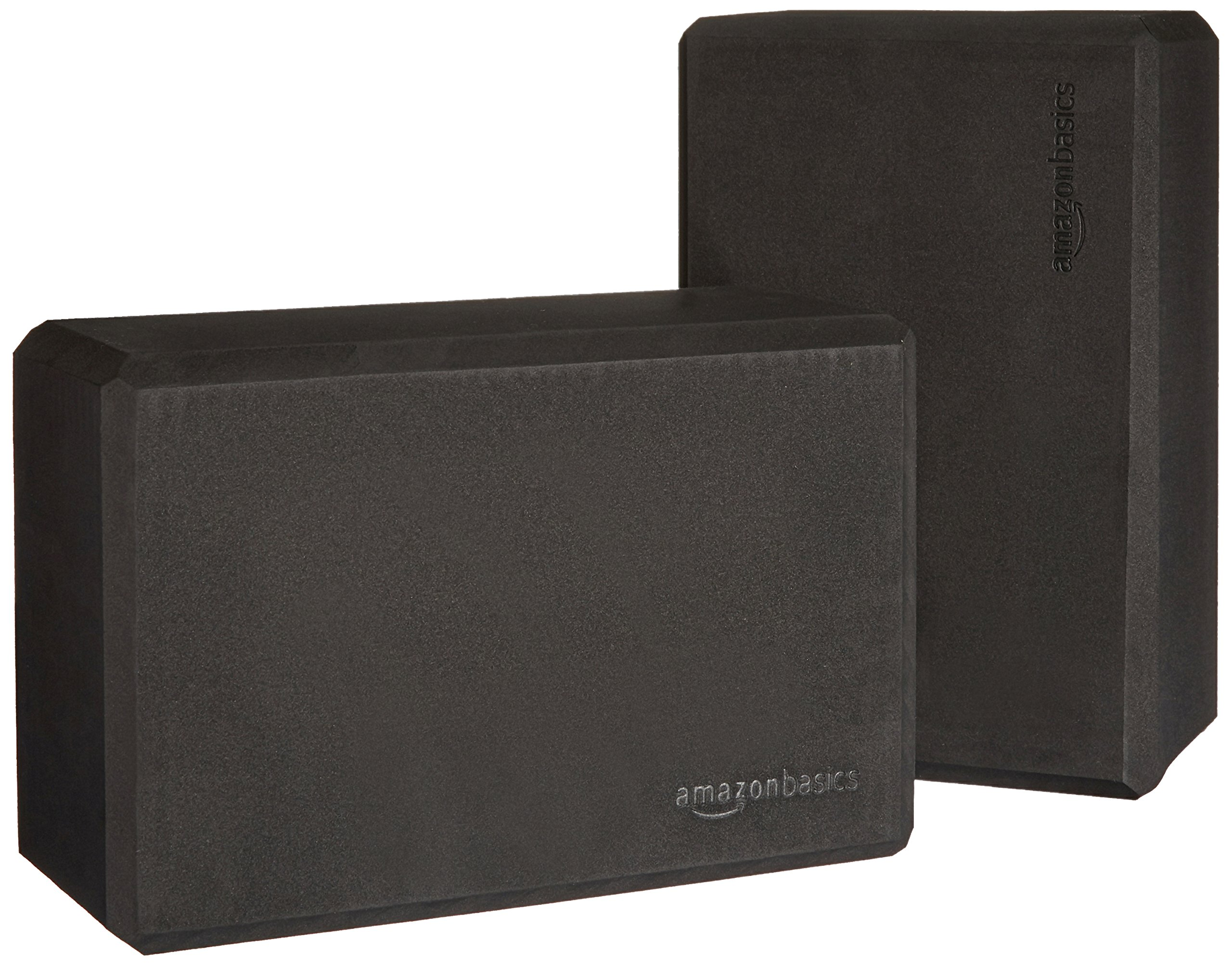 AmazonBasics Foam Yoga Blocks - 4 x 9 x 6 Inches, Set of 2, Black by AmazonBasics (Image #1)