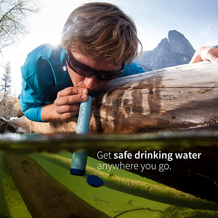 LifeStraw Personal Water Filter for Hiking, Camping