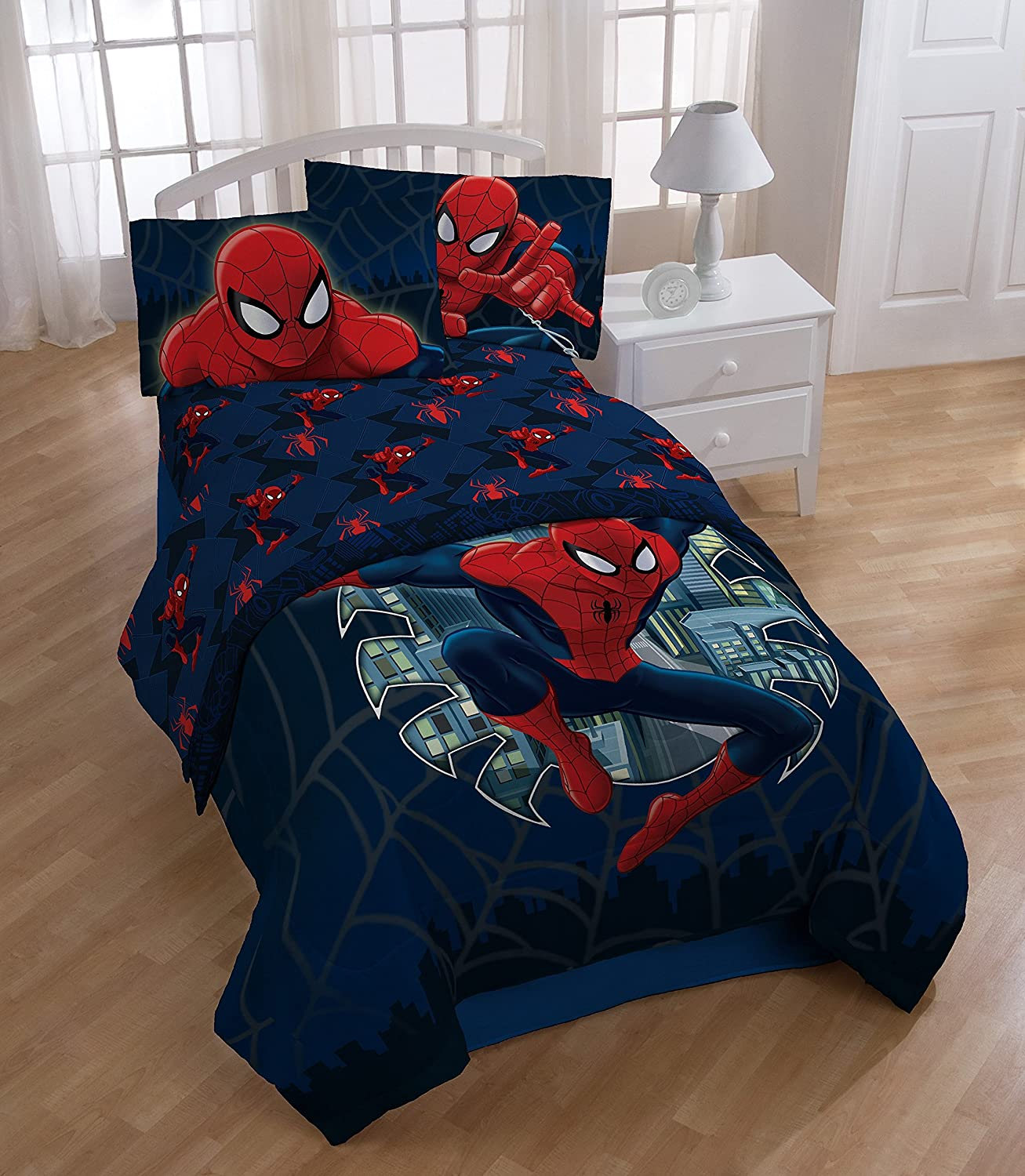 Avengers bedding set twin - Amazon Com Marvel Spiderman Supreme Microfiber 3 Piece Twin Sheet Set Home Kitchen