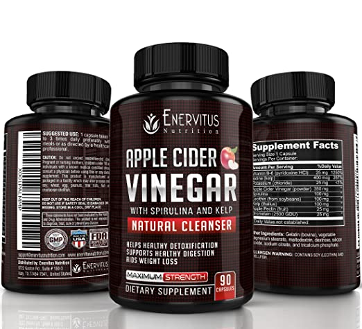 Amazon Com Super Strength Apple Cider Vinegar Pills 90 Capsules