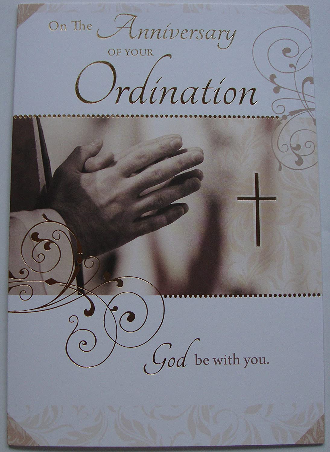 On The Anniversary Of Your Ordination Greetings Card Amazon
