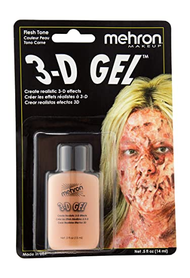 01a714dce890 Amazon.com   Mehron Makeup 3-D Gel (.5 oz) (Fleshtone)   Apparel ...