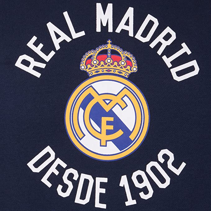 Real Madrid Official Football Gift Mens Graphic Fleece Hoody Navy Blue at Amazon Mens Clothing store: