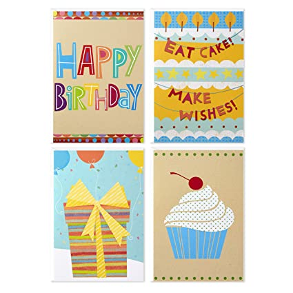 Amazon Assorted Birthday Greeting Cards Hallmark Icons 12 And Envelopes Office Products