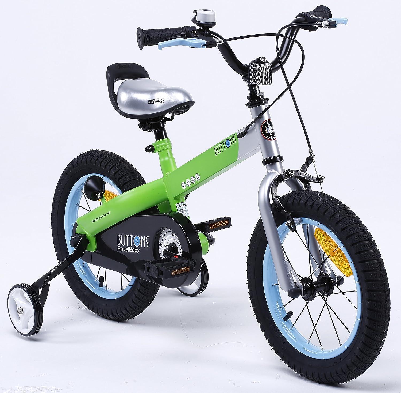 Venta en línea precio bajo descuento Bicicleta de BMX BMX BMX BUTTONS en 11 Colors disponibles para niños de Y & Y TOY STORE ON LINE. Tamaños de 30, 35 y 40 cm con ruedecillas extraíbles, Color MATT verde-azul RIM, tamaño BUTTON-16  El nuevo outlet de marcas online.