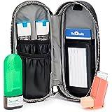 MedBuddy Medicine Case – Protection for Allergy Medications like EpiPens ®, Auvi-Q, Inhalers, Peak Flow Meters, Asthma & more: Solid Black