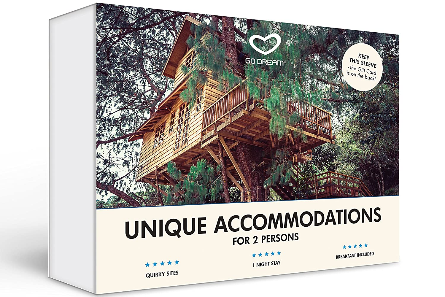 Unusual Hotel Experience Gift Card Nationwide - GO DREAM - Sent in a Gift Package