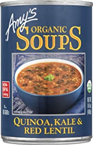 Amy's Organic Soups, Quinoa Kale & Red Lentil, 14.4 Ounce (Pack of 12)