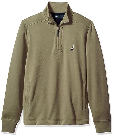 a8bee6027 Nautica Men s Quarter-Zip Fleece Sweatshirt  Amazon.co.uk  Clothing