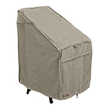 Classic Accessories Montlake FadeSafe Stackable Patio Chairs Cover   Heavy  Duty Outdoor Furniture Cover With Waterproof
