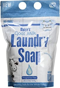 Brooke & Nora at Home, Daisy's Goat Milk Laundry Soap, Fragrance Free, 96 Loads