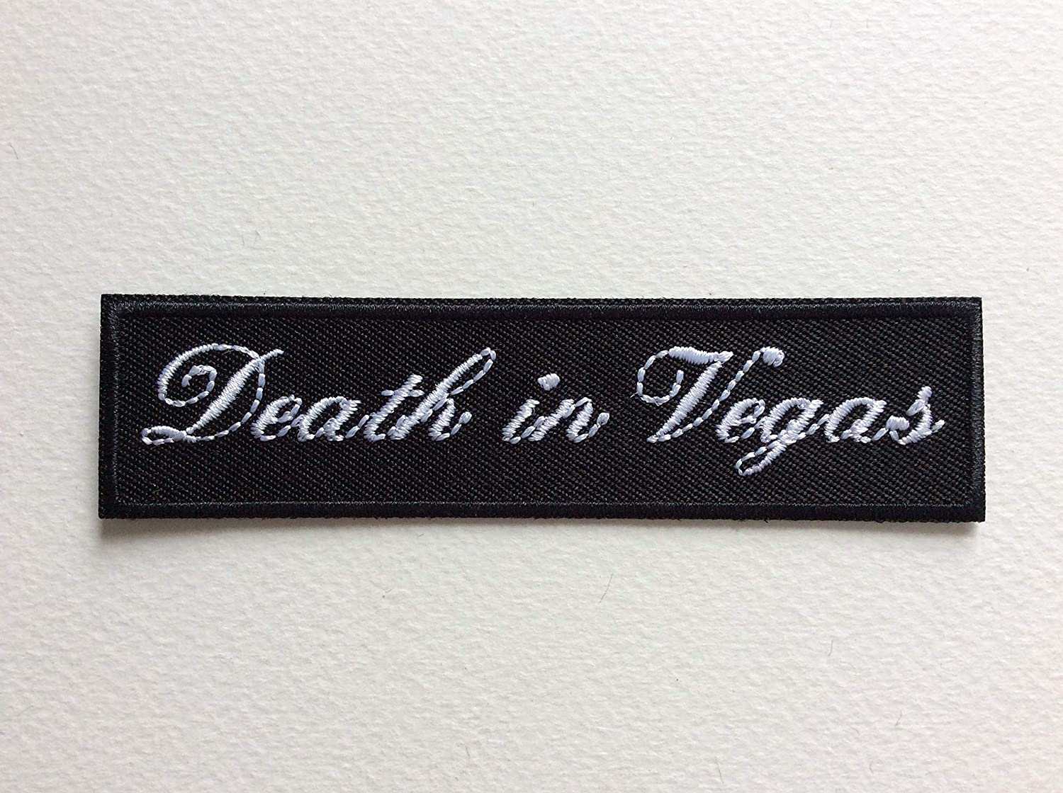Death in Vegas 11 BLUE HAWAI ECUSSON Patches AUFNAHER Toppa THERMOCOLLANT 2,5 CM