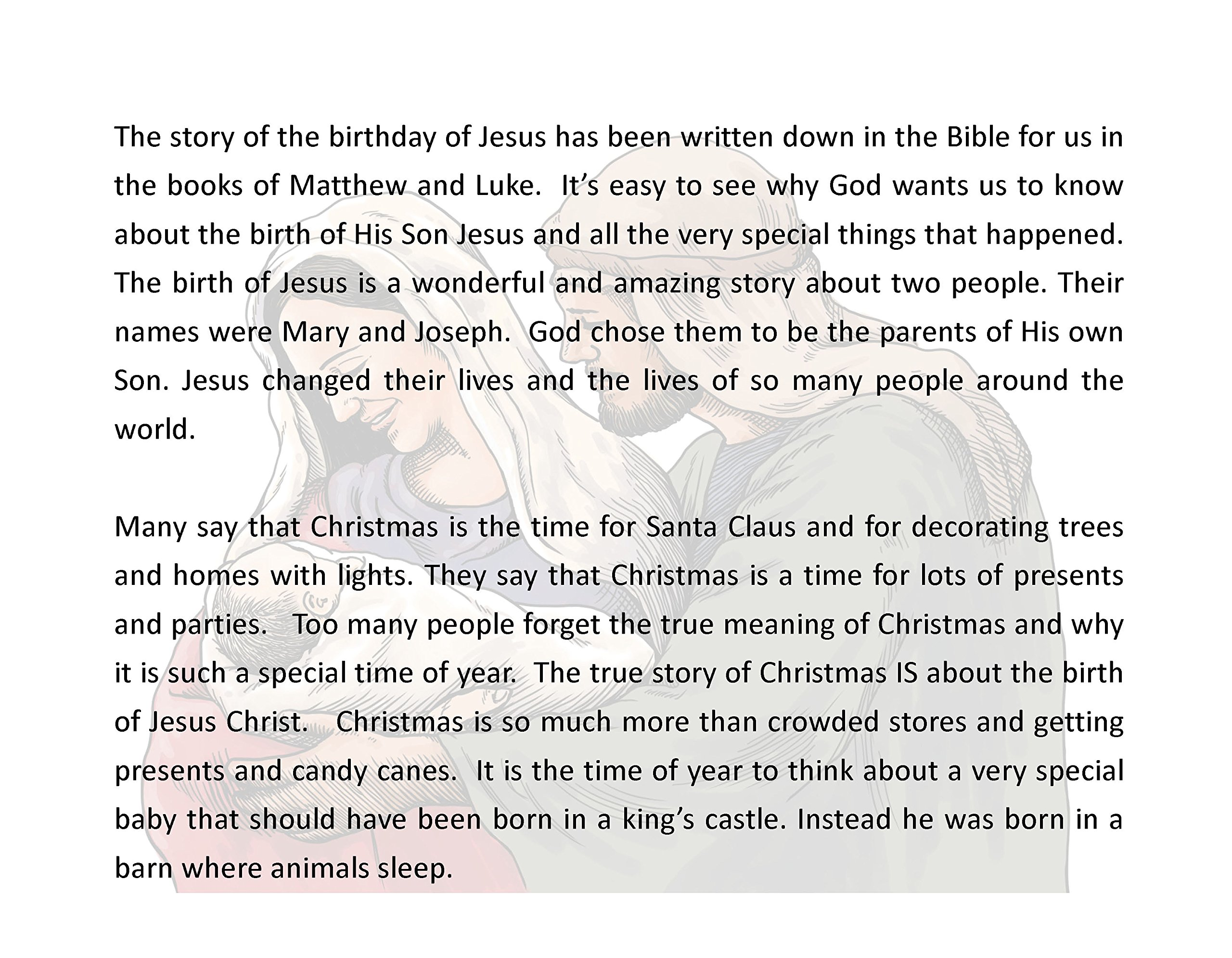 Happy Birthday Jesus! The First Christmas - The True Story: Patricia ...