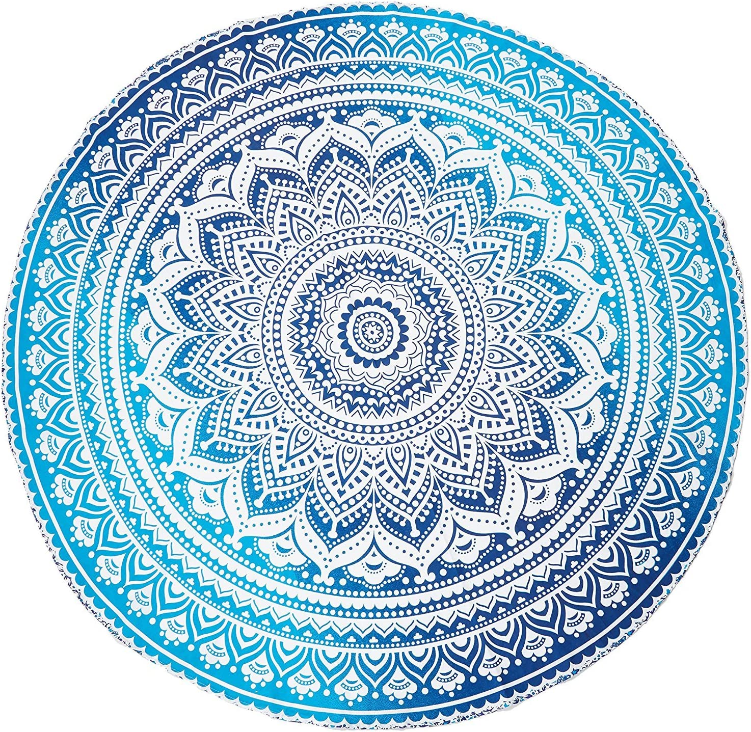 Mandala Indian Tapestry Hippie Throw Boho Beach Yoga Round Mat Towel Blankets