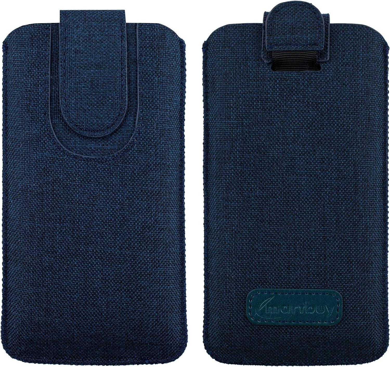 Emartbuy Oscuro Azul Premium Textured Tejido De La Diapositiva En La Funda De La Bolsa Caso Titular De La Cubierta (Size 4XL) Compatible con Smartphones Enumerados Abajo: Amazon.es: Electrónica