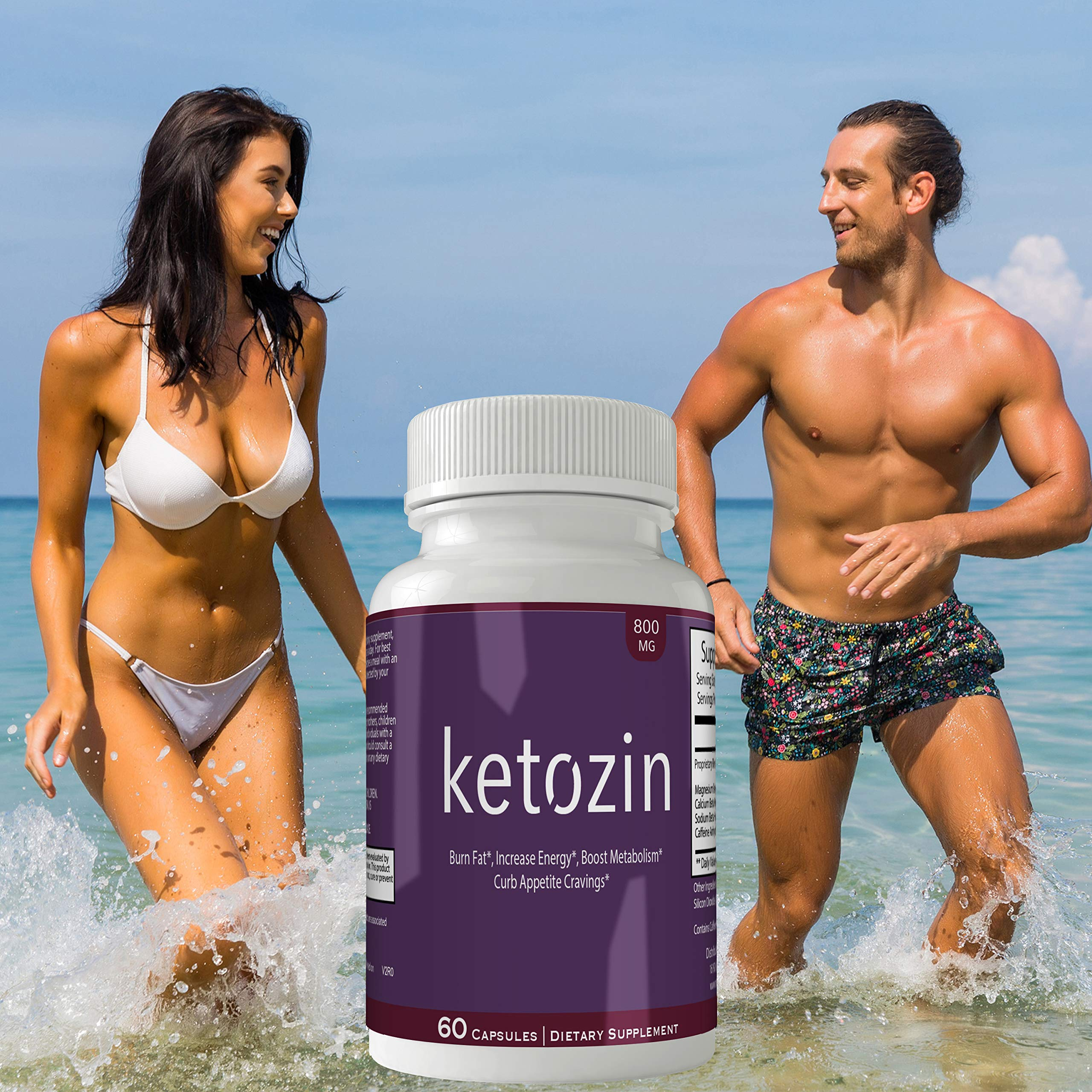 Ketozin Weight Loss Pills Advance Weight Loss Supplement Appetite Suppressant Natural Ketogenic 800 mg Formula with BHB Salts Ketone Diet Capsules to Boost Metabolism, Energy and Focus by nutra4health LLC (Image #6)