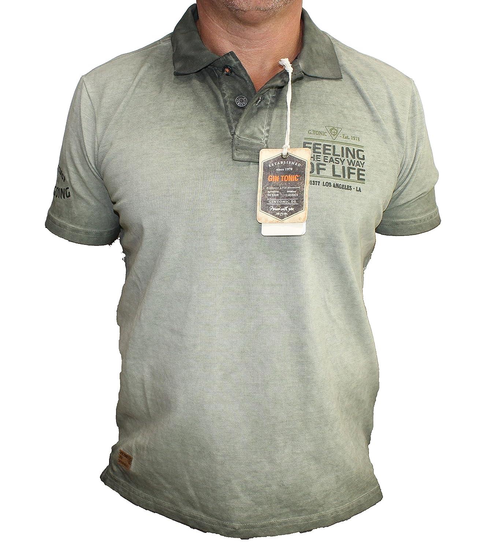 Qualität zuerst Junge abwechslungsreiche neueste Designs GIN TONIC Men's Polo Shirt Small - Green - Small: Amazon.co ...