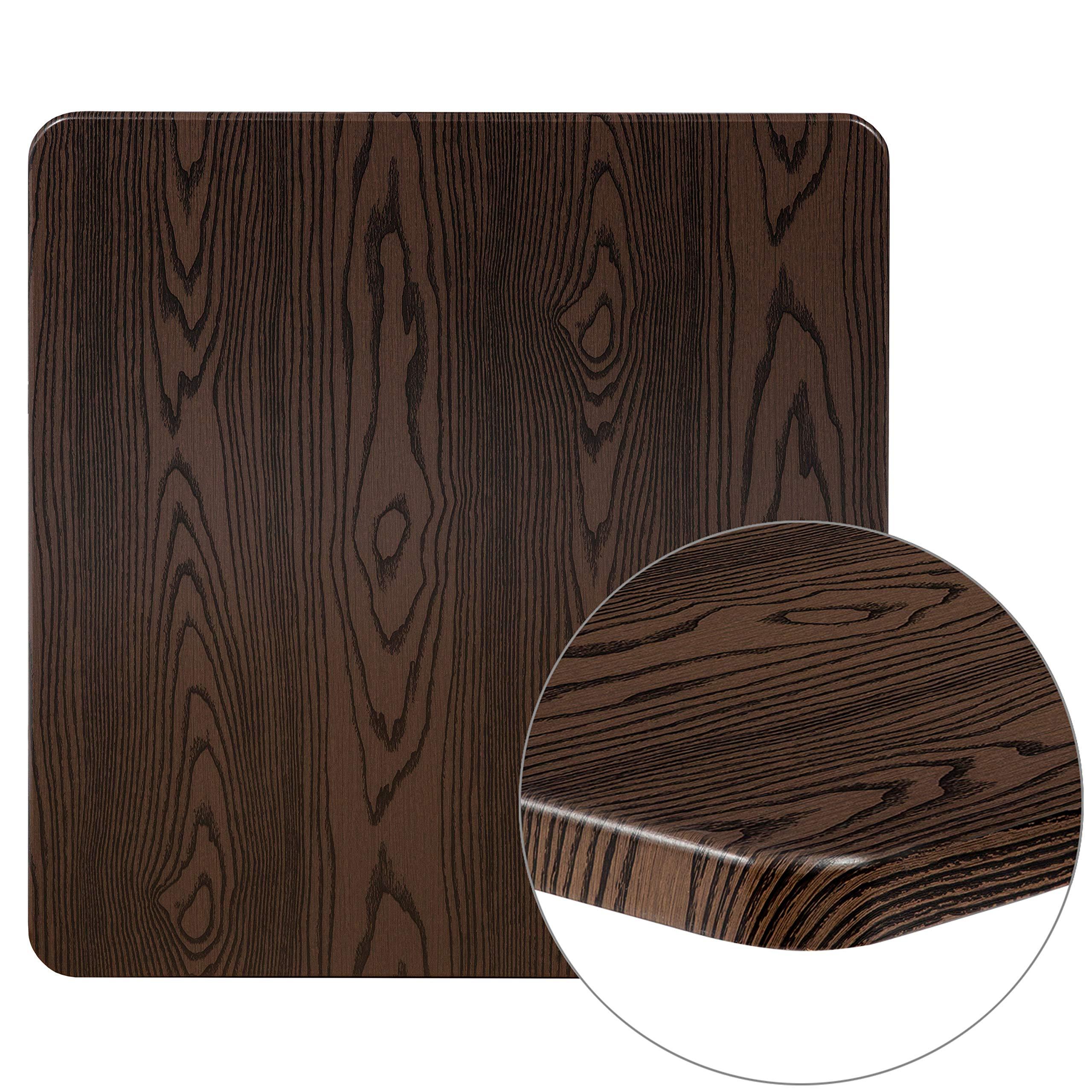 Flash Furniture XU-3030-WD-GG Rustic Wood Grain Laminate Restaurant Table Tops