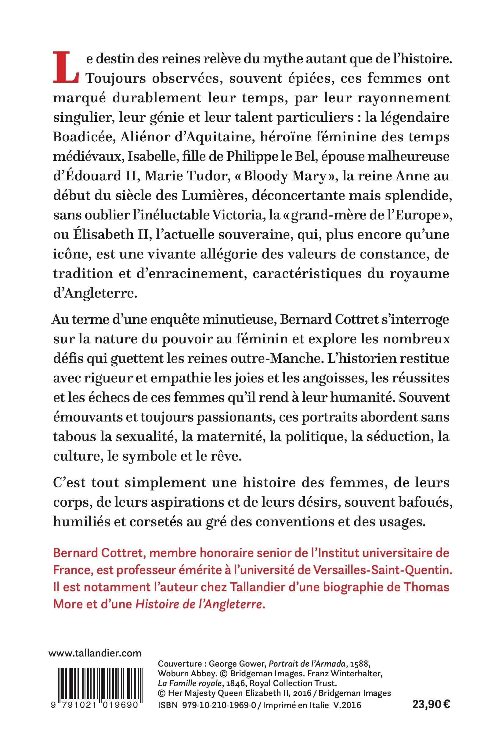 Ces reines qui ont fait l Angleterre de boadicee a elisabeth II: Amazon.es: Bernard Cottret: Libros en idiomas extranjeros