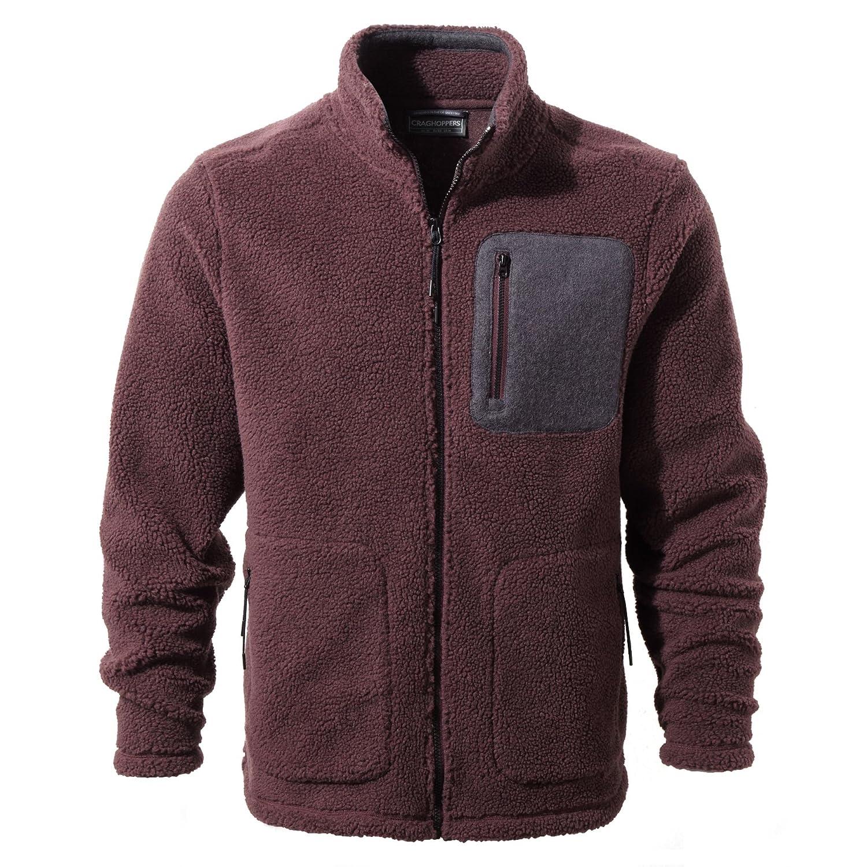 Bordeaux grand Craghoppers Pour des hommes Edvin Polyester Full longueur Zip Fleece veste Top