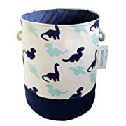 Storage Bin,Cotton Collapsible Organizer Basket for Laundry Hamper,Toy Bins,Gift Baskets, Bedroom, Clothes,Baby Nursery(Dinosaur)
