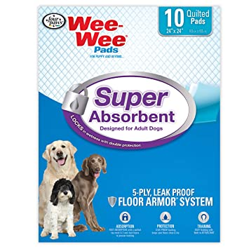 House Training Pads Training & Obedience Wee Wee Dog Pee Pads Extra Large18 CountPuppy Training Pee Pads for Dogs..