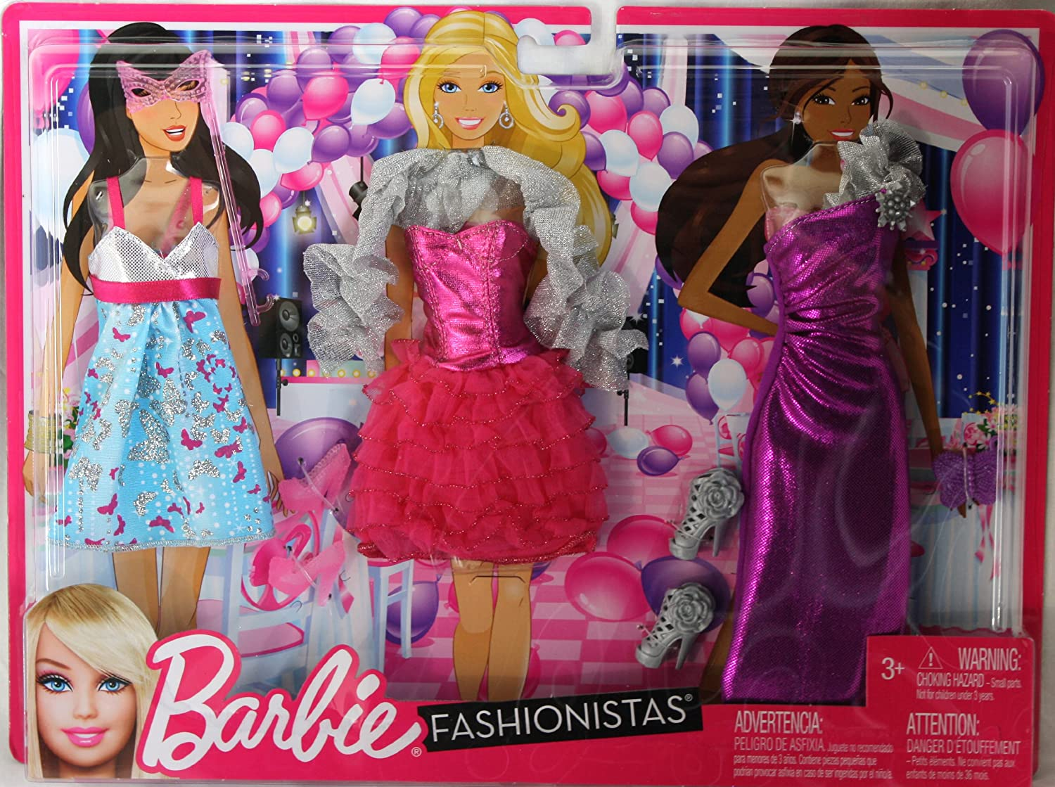 Amazon Com Barbie Fashionistas Night Looks Clothing Cutie Birthday Party Fashion Toys Games