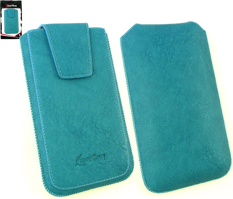 Emartbuy® Classic Range Azul Cuero PU Funda Carcasa Case Tipo ...