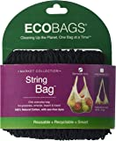 Eco-Bags Products String Tote Handle Natural, Cotton Black