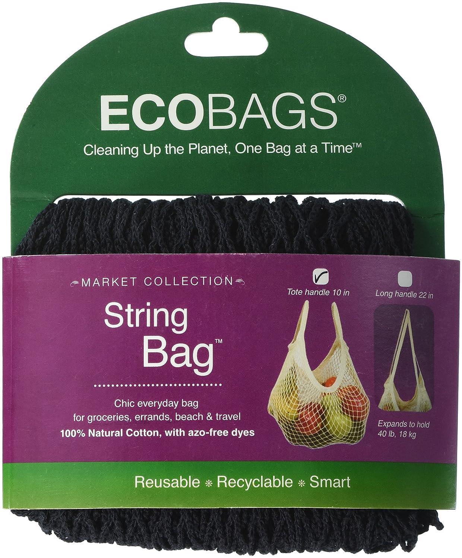 Eco-Bags - Mango de cuerda, algodón, color negro: Amazon.es: Industria, empresas y ciencia