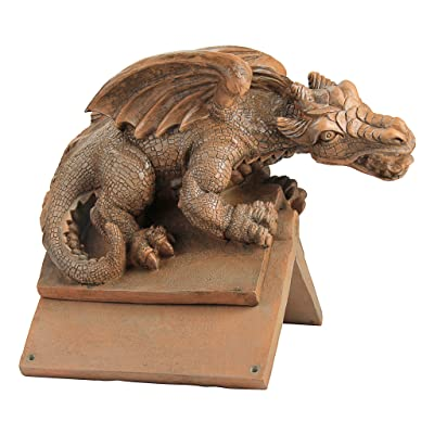 Design Toscano Apex, the Winged Dragon Sculptural Roof Cresting : Garden & Outdoor
