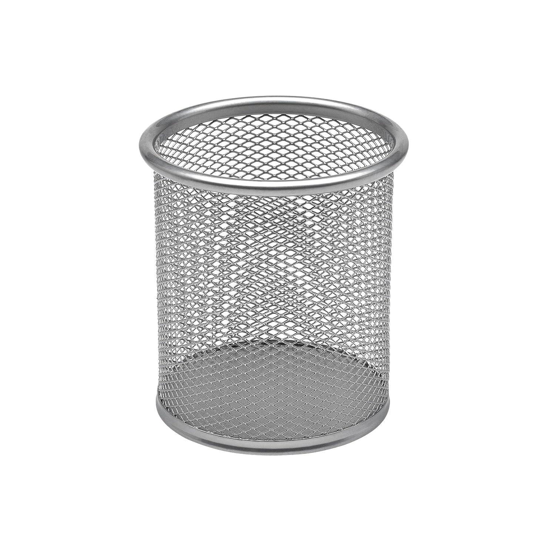 Osco - Bicchiere portapenne in rete metallica, altezza 9,4 cm, ø 8,2 cm, colore: argento Osco Europe PP1 SILVER