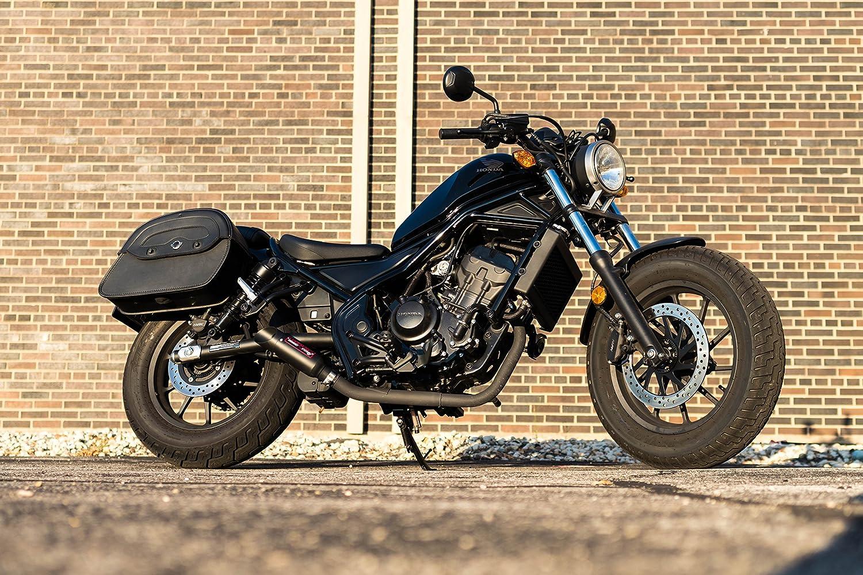 Coffman's Shorty Exhaust for Honda CMX 500/300 CMX500/CMX300 Rebel  2017-2018 Sportbike with Gold Tip
