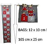 khevga Adventskalender zum Befüllen groß XXL mit großen Taschen für Kinder und Erwachsene Maus