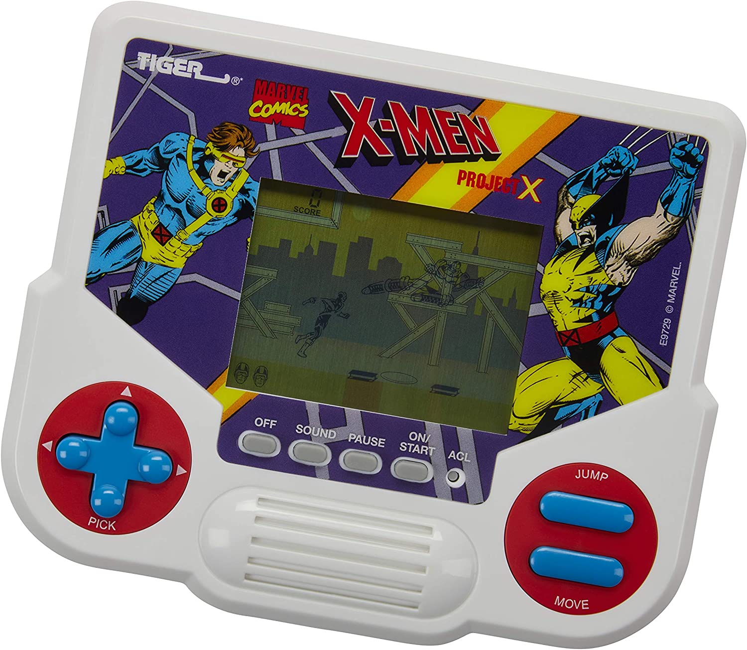 Tiger Electronics Marvel X-Men Project X Electronic LCD Video Game, Retro-Inspired 1-Player Handheld Game, Ages 8 and Up: Toys & Games