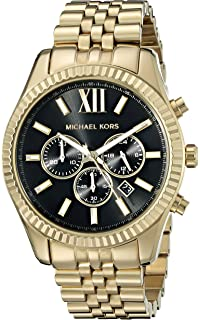 7dce2a9d2bbb Amazon.com  Michael Kors Lexington Gold-Tone Stainless Steel Watch ...