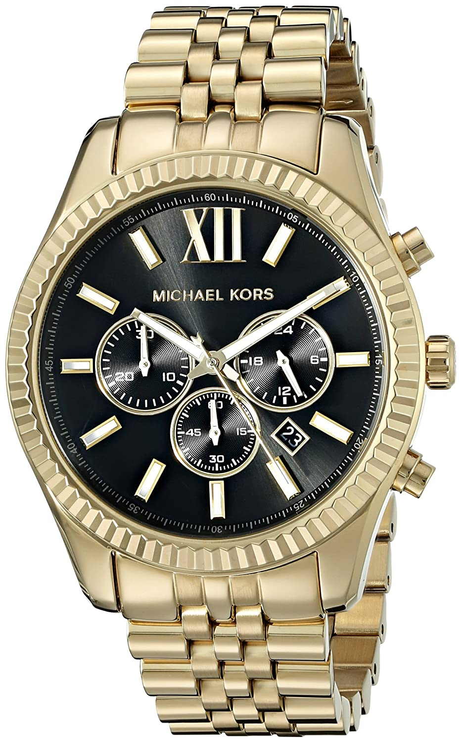 amazon com michael kors men s lexington gold tone watch mk8286 amazon com michael kors men s lexington gold tone watch mk8286 michael kors watches