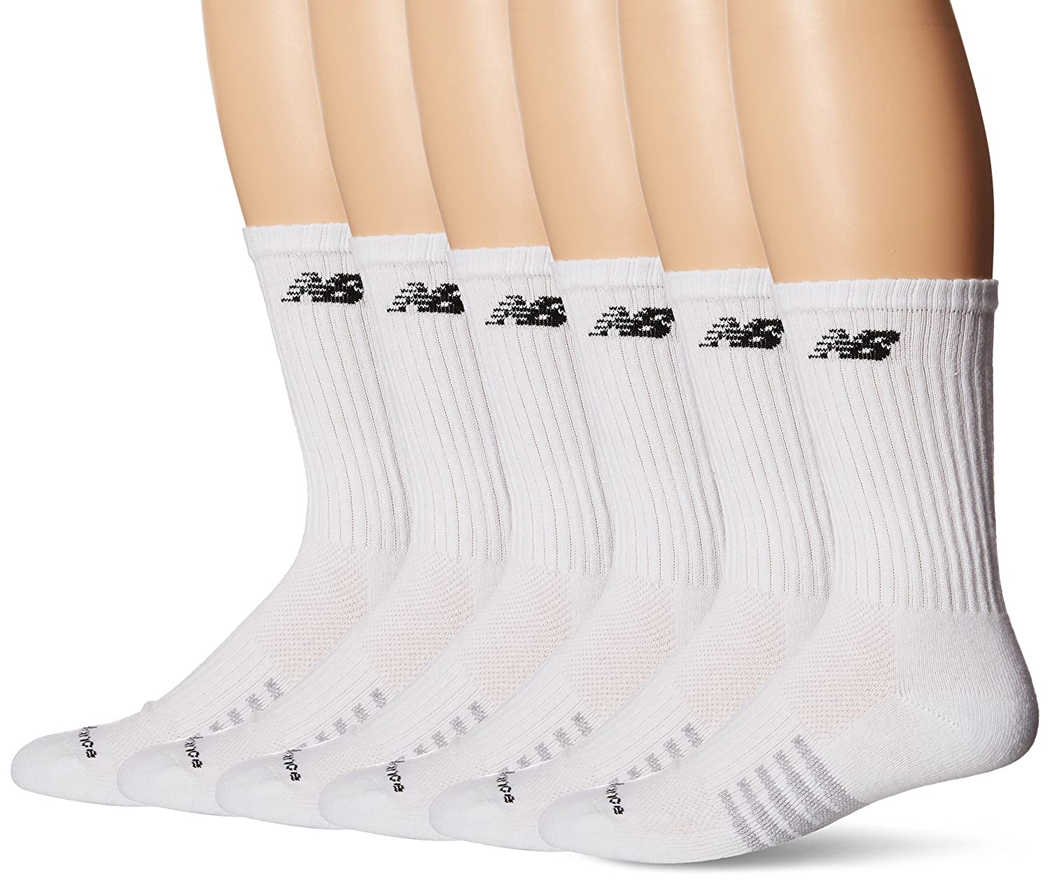 New Balance Men's Core Cotton 6 Pack Crew Socks N6010-776-3-WEB