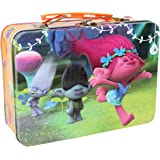 Dreamworks Trolls Princess Poppy, Branch & Guy Diamond Metal Tin Lunch Box Toy Storage Case