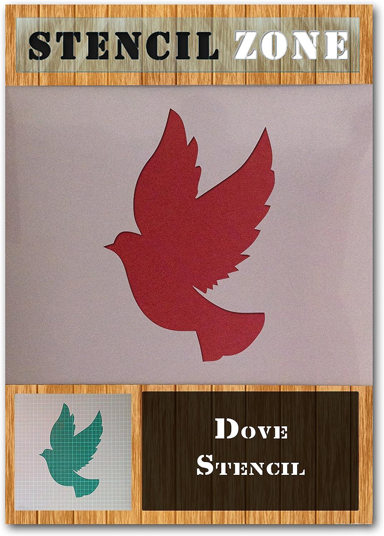 Colombe Oiseau Mylar animal volant Airbrush Peinture murale Art Pochoir trois A6 Taille Pochoir - XXSmall