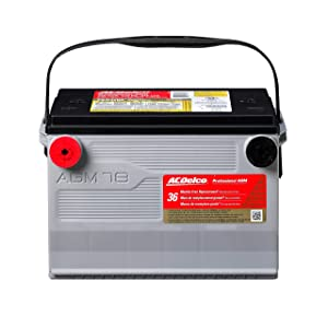 3. ACDelco 78AGM Professional AGM Automotive BCI Group 78 Battery