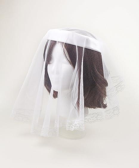 081fe52680b Captain Mourning Funeral Chapel Catholic Veil Spanish Lace Mantilla White  One Size