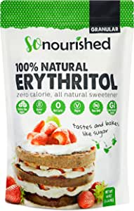 Erythritol Sweetener Granular (1.14 KG / 2.5 lb) - No Calorie Sweetener, Non-GMO, Natural Sugar Substitute (2.5 Pounds)