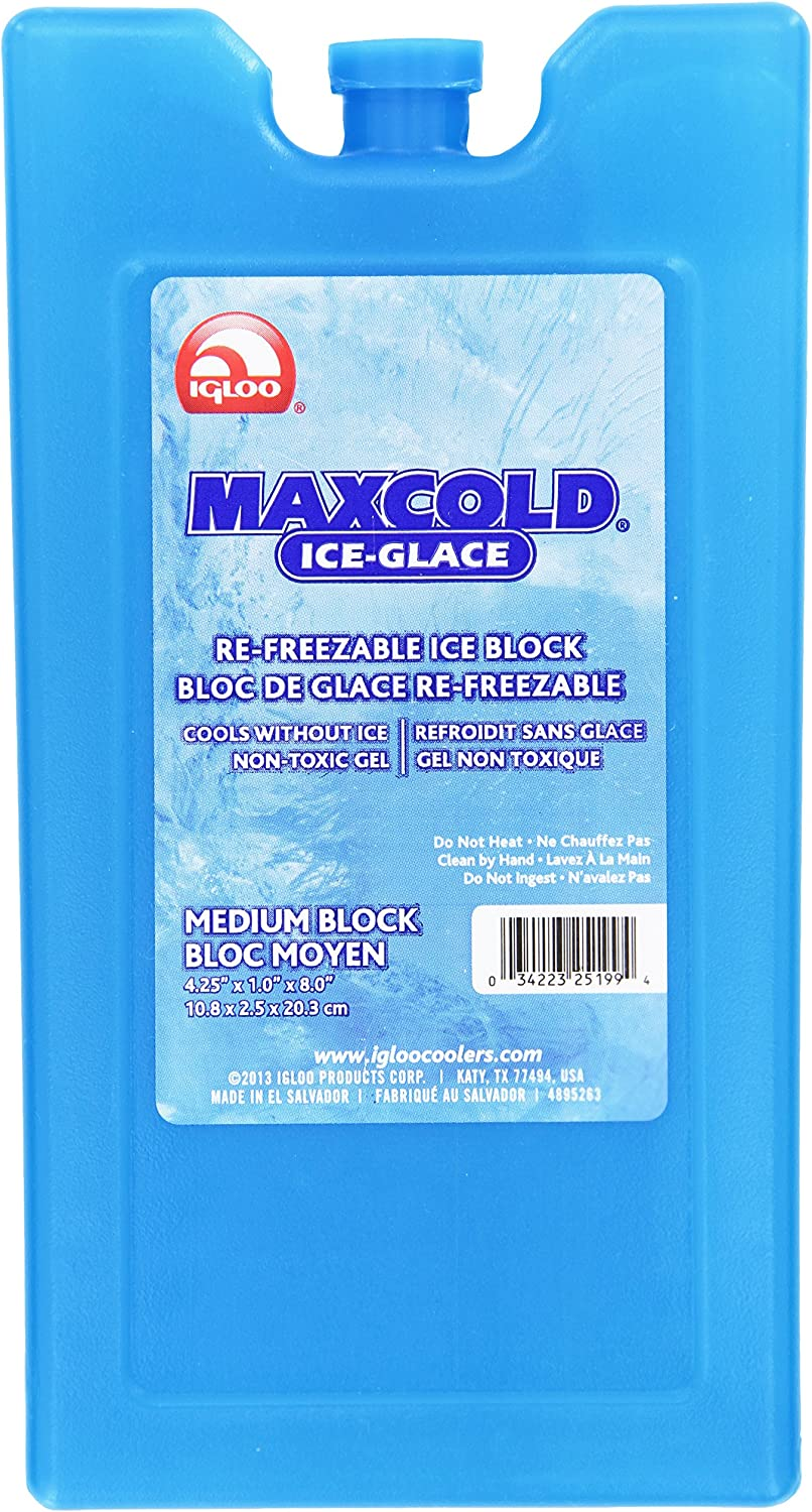 IGLOO Outdoor Maxcold Ice Pack 10.8 x 2.4 x 20.2 cm Blue L x W x H in cm