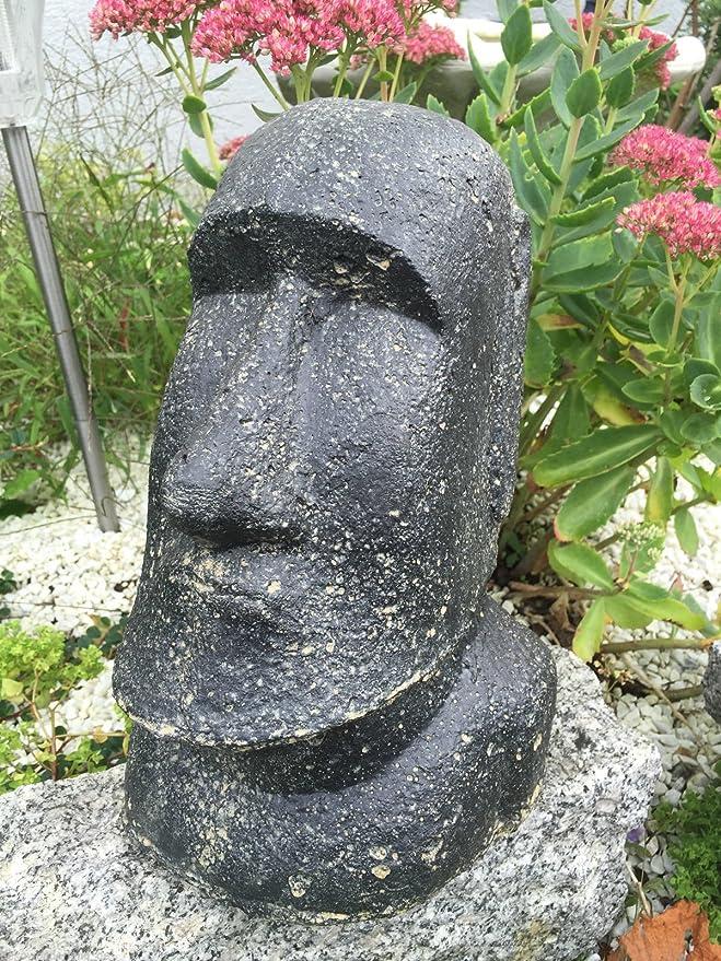 Figura de piedra busto cabeza Moai Oster Isla Jardín H 30 cm: Amazon.es: Hogar