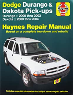 Dodge pick ups 1994 2001 haynes repair manuals haynes dodge durango 2000 2003 dodge dakota 2000 2004 haynes automotive repair manual fandeluxe Choice Image