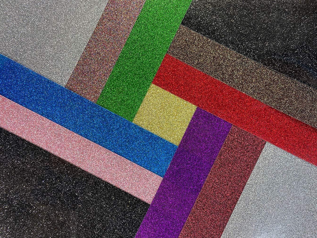 KnowMi Glitter HTV Iron on Vinyl Heat Transfer Bundle Vinyl Glitter HTV