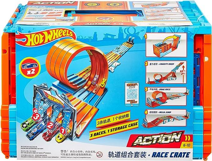Hot Wheels Pista de Coches de Juguete Carreras 5 carriles ...