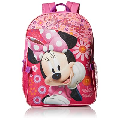 Minnie Mouse Girls' Backpack with Detachable Lunch Bag, Pink, One Size